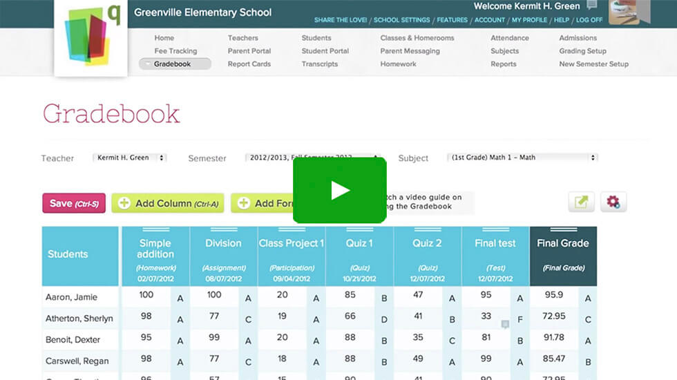 Online School Management Software - QuickSchools