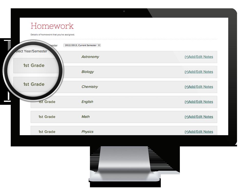 homework organizing software