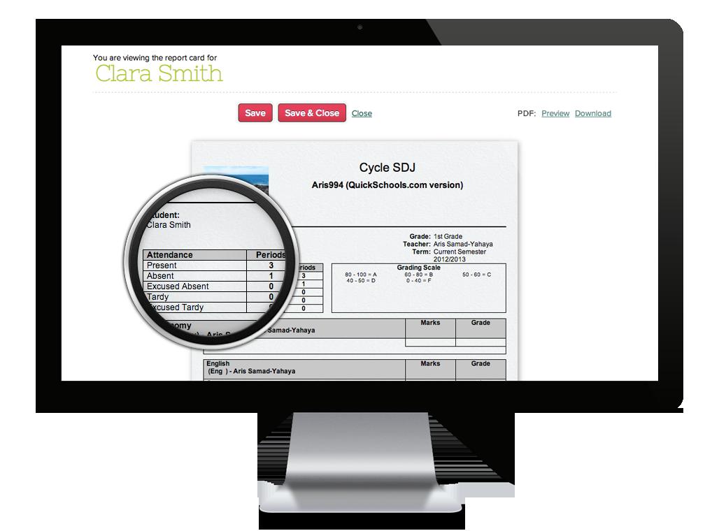 online school report writing software