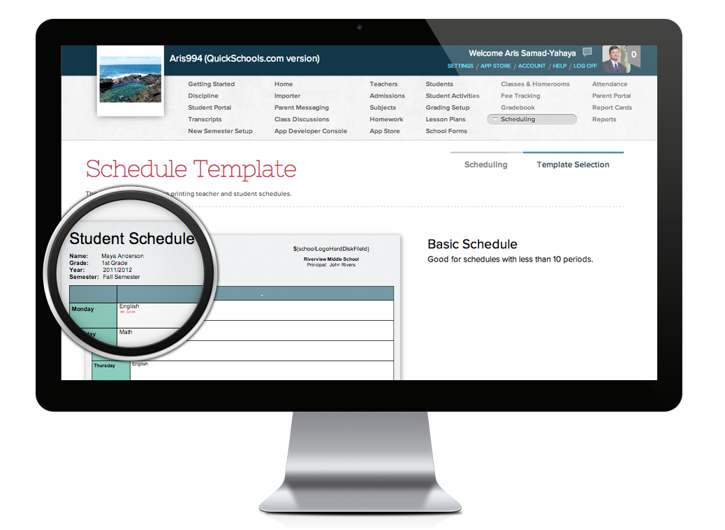 time table schedule maker