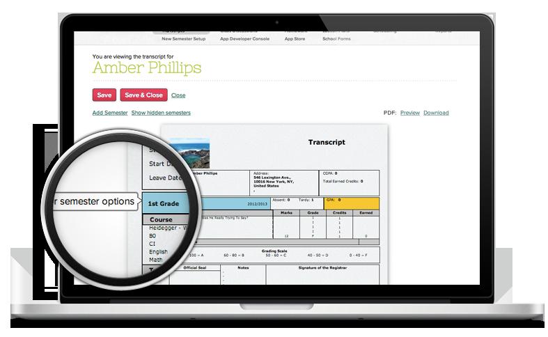 online college high school transcript software school transcript template